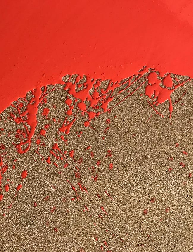 roter spachtelboden von pandomo